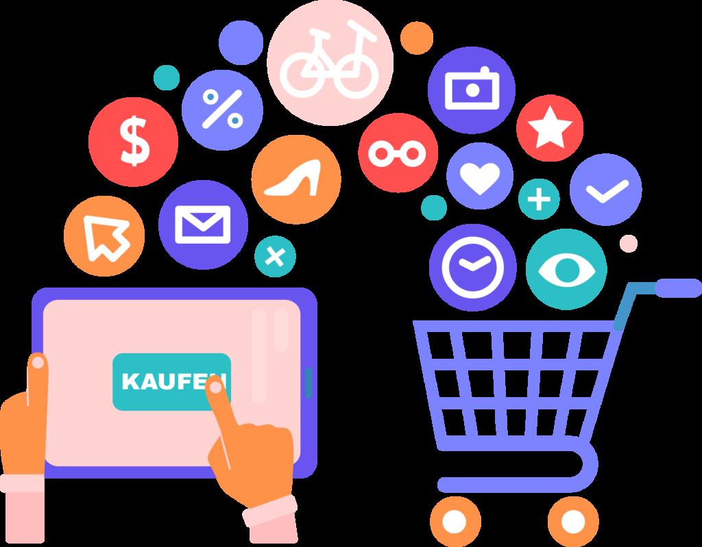 verkaufe-online-tablet-shopper-cart